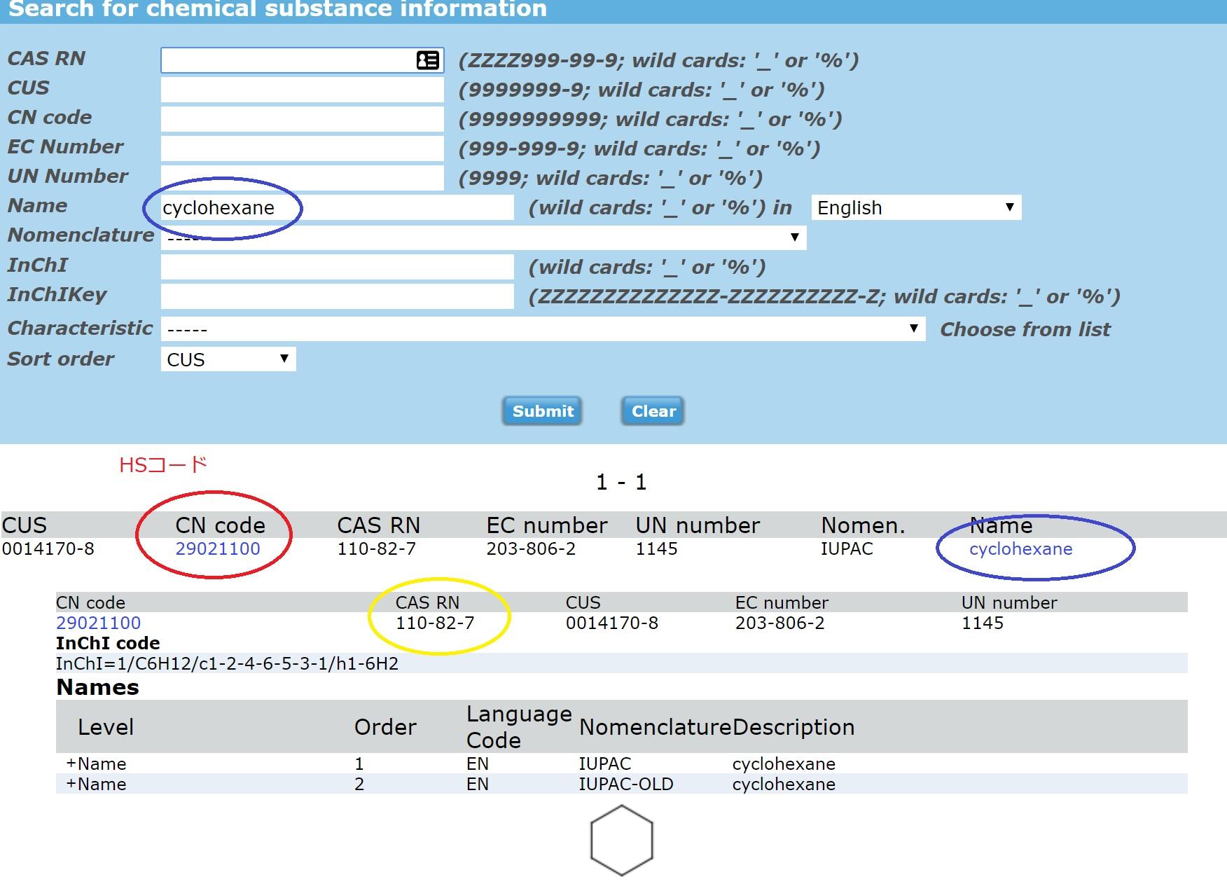 化学品のHSコード検索ツール