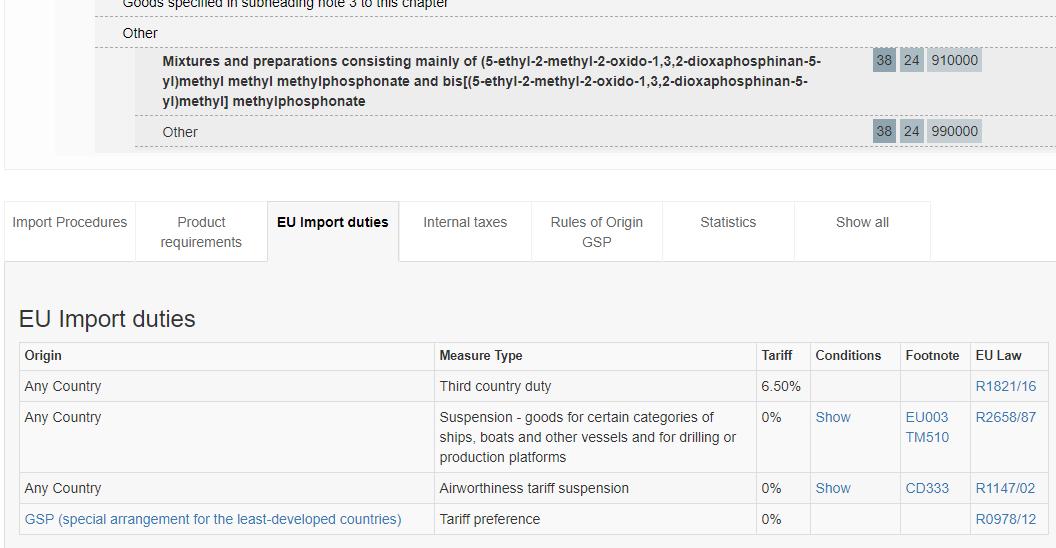 EUの輸入規制、法律を検索